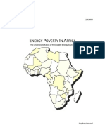 Energy Poverty in Africa - The Under-Exploitation of Renewable Energy Sources