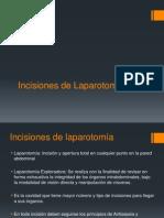 1.- Incisiones de Laparotomia