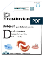 Prostho III Lec-2- Part -2- Infection Control