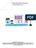 Artist Packet for Block Party Handmade Boutique