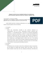 Preliminary Injunction Response by Garret Ean