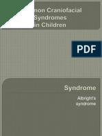 Common Craniofacial Syndromes