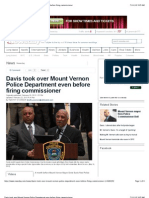 Davis Took Over Mount Vernon Police Department Even Before Firing Commissioner