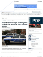 Mount Vernon Cops Investigated by Feds for Possible Ties to Street Gangs