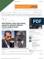 Sam Zherka, Strip Club Owner, Named to Phantom Mount Vernon Police Board