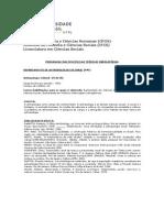 IFCS - Disciplinas