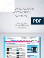 How to Scrap Any Website's content using Scrapy