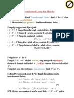 6 Transformasi Linier Dan Matriks