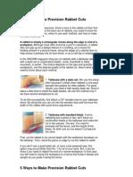 5 Ways to Make Precision Rabbet Cuts