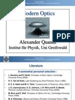Modern Optics Introduction