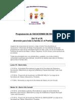 MAIPU - LAS ARMAS - STO. DOMINGO - Programación VACACIONES DE INVIERNO