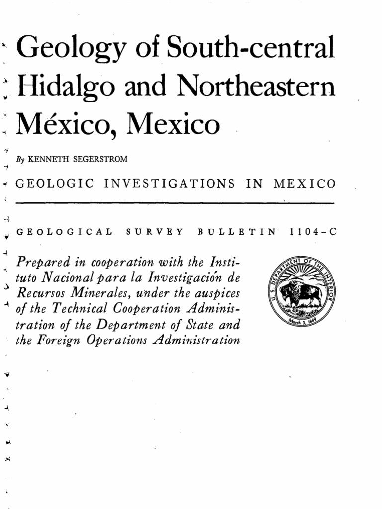 Segestrom (1962) -- Geology of S Central Hidalgo n  NE Mexico  72d8da197db