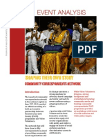 Event Analysis of Community Correspondents Network Launch