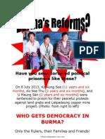 Free Ko Aung Soe, U Maung San and Ko Soe Thu!