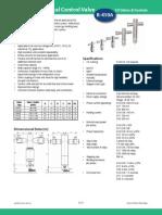 EX4-EX8 Electrical Control Valves