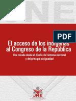 El acceso de los indígenas al Congreso peruano