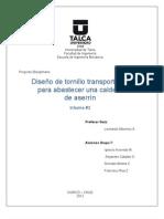 Diseno de Tornillo Transportador