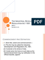 The Industrial Development and Regulation Act 1951
