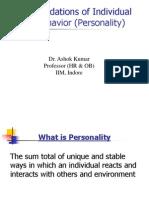 02-Foundation of Individual Behavior ( Personality)