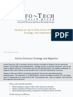 Develop and Implement an Up-To-date Active Directory Strategy