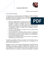 Comunicado Público Nº10 - 2013