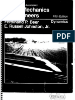 Vector Mechanics Dynamics F Beer E Russel 5th Edition Solution Book