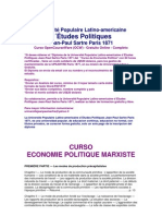 Curso de Economia Politica - Université Populaire Latino-americaine d´Études Politiques Jean-Paul Sartre Paris 1871  Curso OpenCourseWare (OCW)