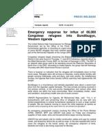 UNHCR Uganda Press Release DRC Refugee Influx Into Bundibugyo - 14 July