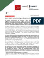 Etude de BPA Sur Testicules. 2013 INSERM.fr