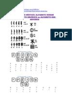 ALFABETO MÍSTICO- ALFABETO OGHAM - ALFABETO DRUÍDICO OU ALFABETO DAS ÁRVORES