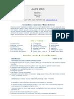 Admin Assistant - Customer Service, Business Development (Universal Cv - Resume)