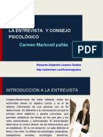 LA ENTREVISTA Y CONSEJO PSICOLÓGICO