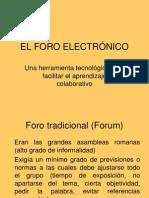 EL FORO ELECTRÓNICO