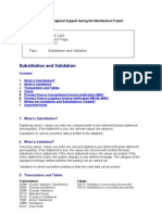 MM IV Validation and Substitution in Invoice Verification