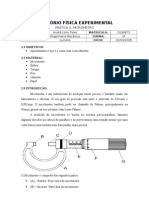 [fisica] Pratica 2 MICROMETRO