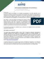 Análisis de canasta básica alimentaria en Guatemala