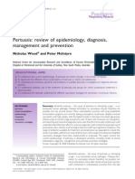 Pertussis,Review of Epidemiology, Diagnosis,