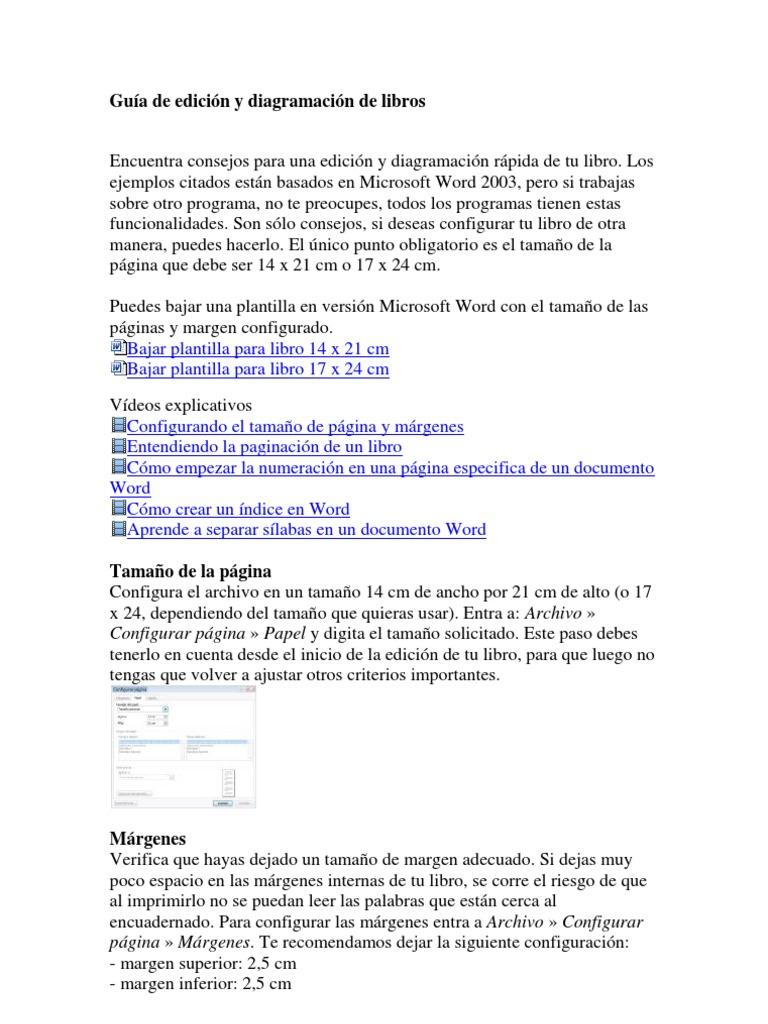 Excelente Plantilla De Libro De Word Fotos - Ejemplo De Colección De ...