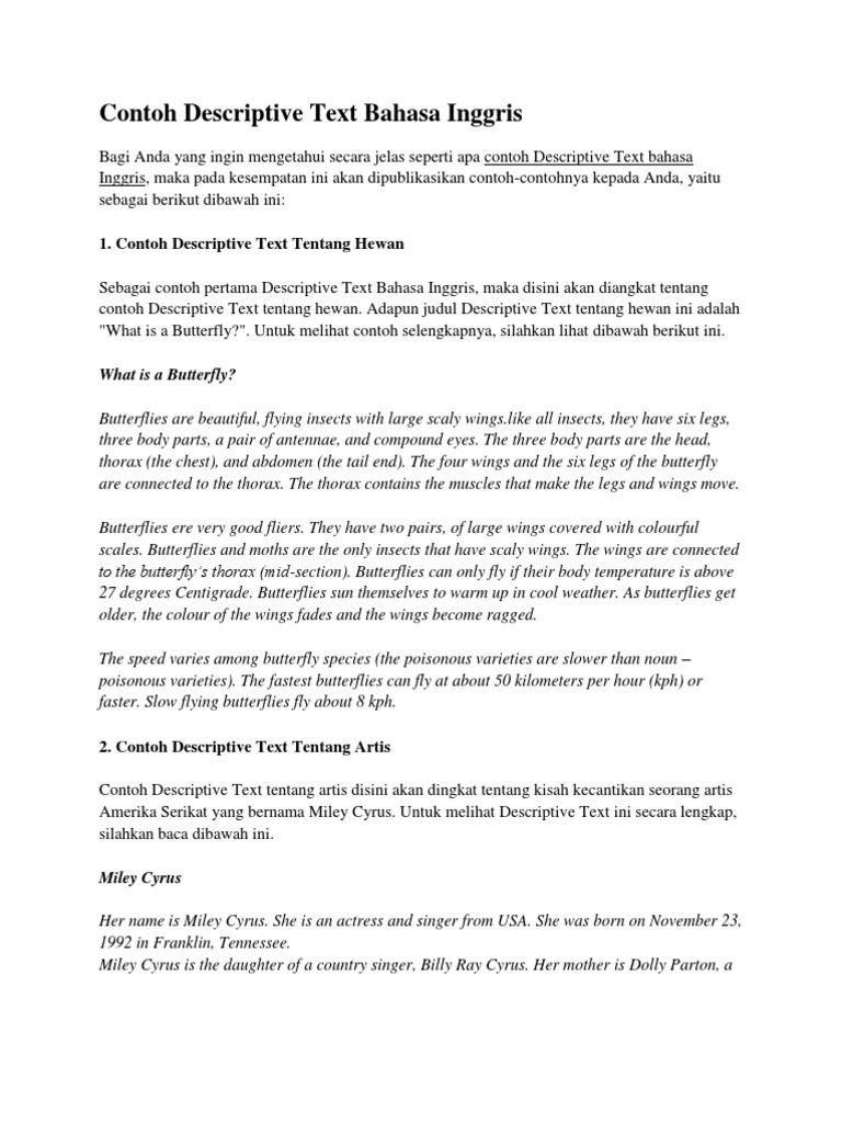 Imágenes De Pengertian Descriptive Text Dalam Bahasa Inggris Beserta