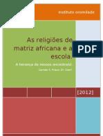 As religiões de matriz africana e a escola_apostila 2