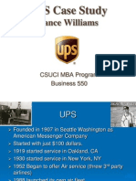 UPS Case Study by Lance Williams