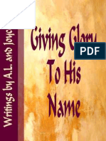 Giving Glory to His Name