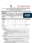 07.14.13 Post-Game Notes
