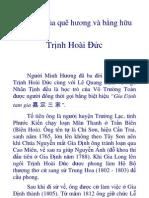 Nhà thơcủa quê hương và bằng hữu - Trịnh Hoài Đức
