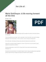 Marta Sotomayor Celebrating the Life Of