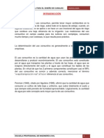 CALCULO DE CAUDAL PARA EL DISEÑO DE CANALES