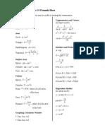 Applied Mathematics 30 Formula Sheet