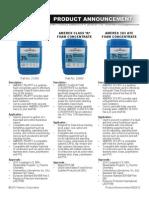 Amerex Foam Cut Sheet Announcement