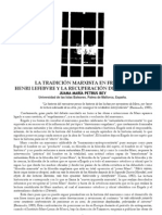 Heni Lefebvre y La Recuperacion Del Joven Marx - Juana Maria Petrus Bey
