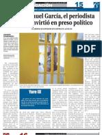 ManuVictor Manuel García, el periodista venezolano que se convirtió en preso político.el Garcia